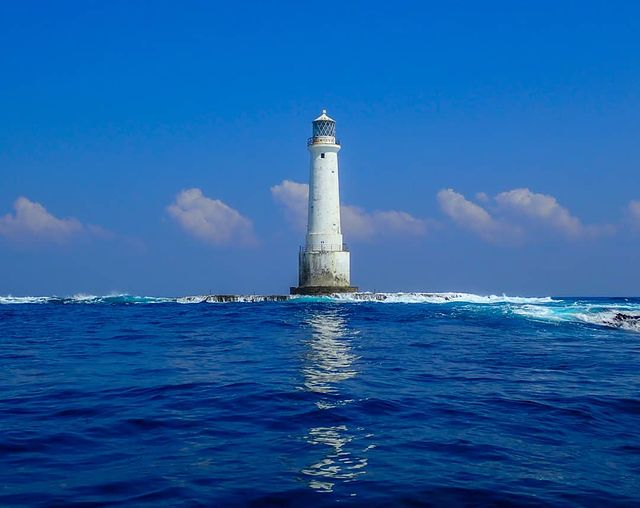View of the Great Basses Reef Lighthouse, Sri Lanka