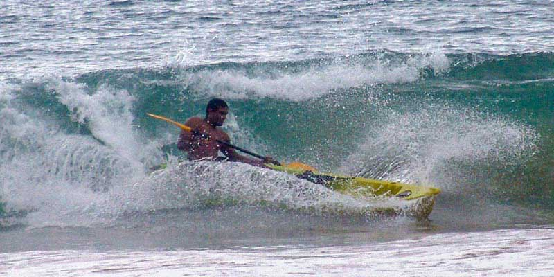Surfing in the Wave in Sri Lanka