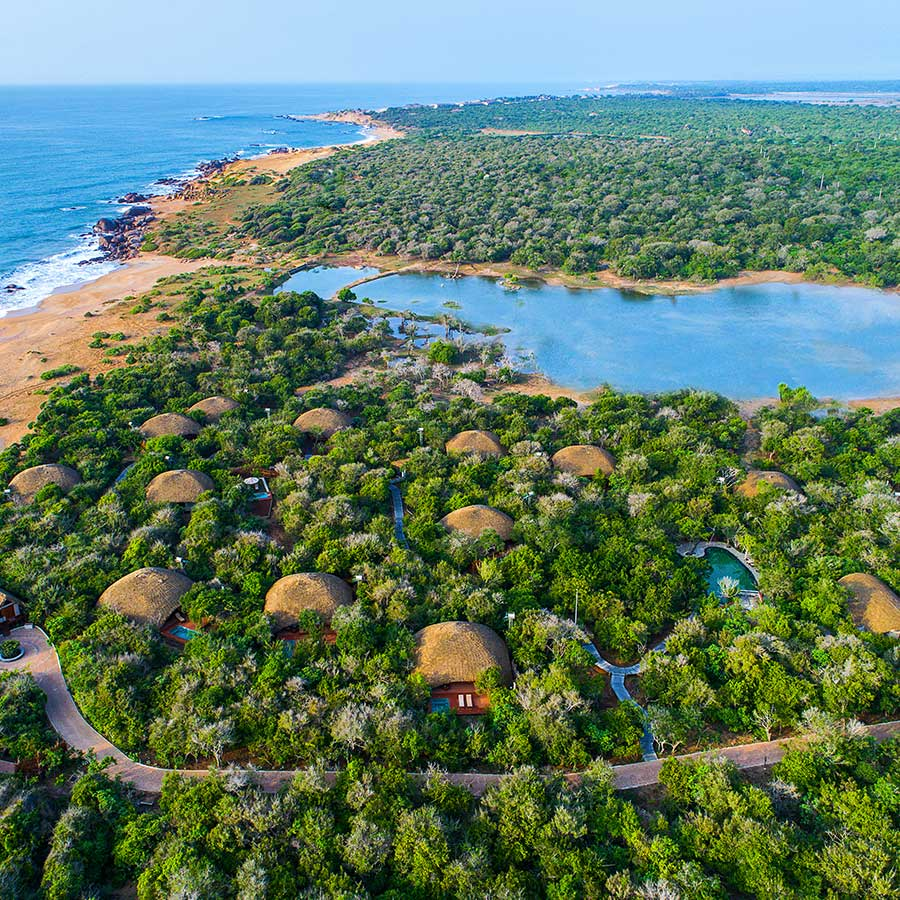 Aerial View of a Hotel in Yala