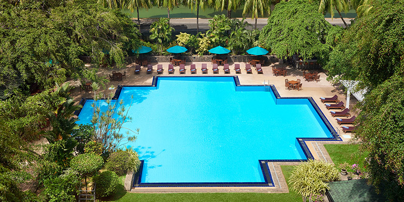 Swimming Pool of a Hotel in Colombo