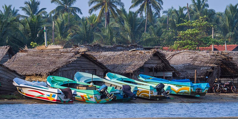 Fishing Boats in Kalpitiya Beach