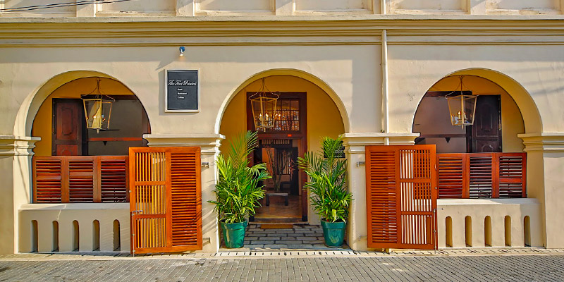 Entrance of a Vintage Hotel in Galle