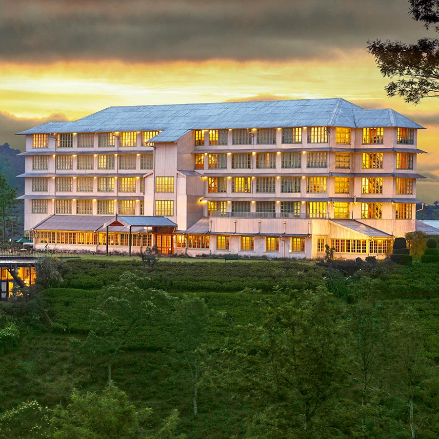 Evening Sky View of  Hotel in Kandy