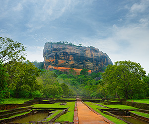 Sigiriya from the Entrance Road