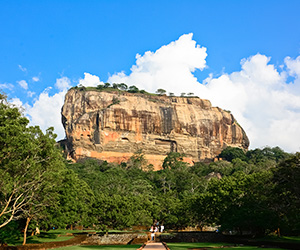 Sigiriya Rock from Hiriwaduna Lake