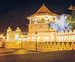 Night View of the Dalada Maligawa