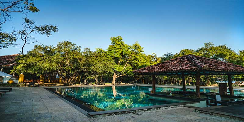 Swimming Pool of a Hotel in Dambulla