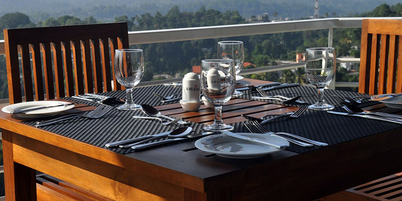 Dining Table at a Hotel in Kandy