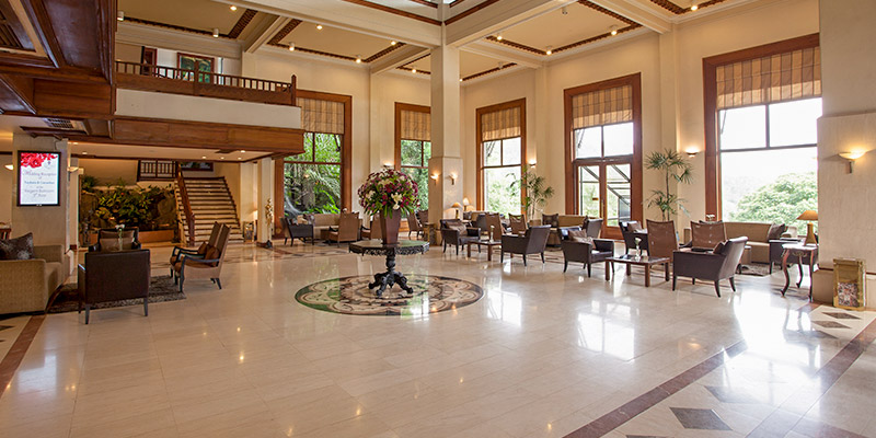 Lobby Area of the Hotel in Kandy