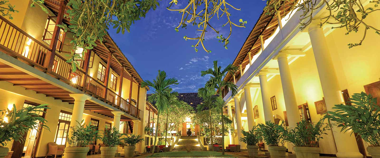 Evening View of a Hotel in Galle