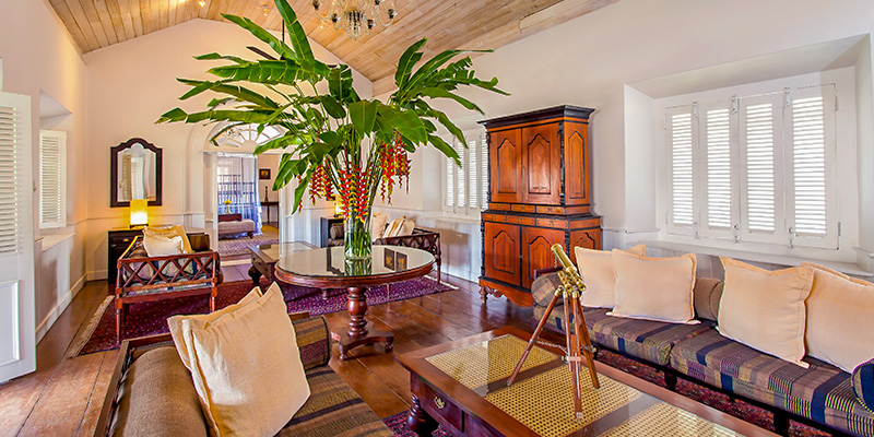 Lobby Area of a Hotel in Galle