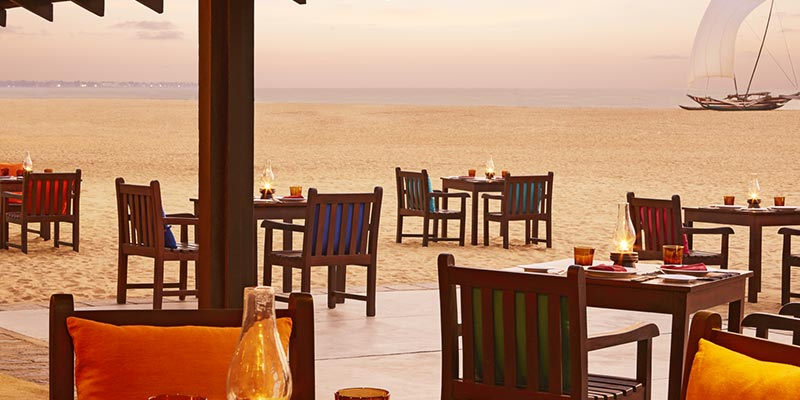 Dining Area of a Hotel in Negombo