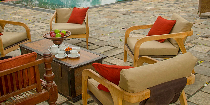 Dining Area by the Pool in Kandy