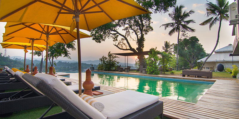 Swimming Pool of a Hotel in Kandy