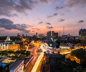Night View of the Colombo City