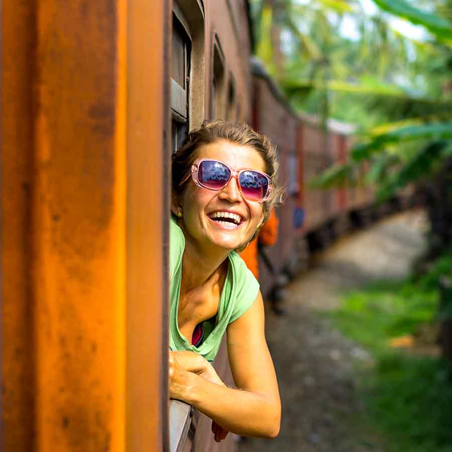 Girl On the Train in Kandy