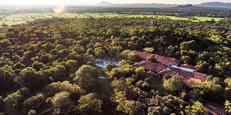 Aerial View of a Hotel in Dambulla